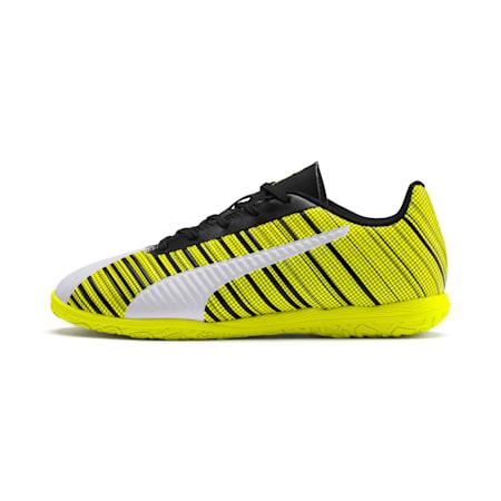 PUMA ONE 5.4 IT Soccer Shoes JR, White-Black-Yellow Alert, small