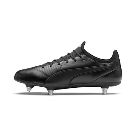 KING SG Men's Football Boots, Puma Black-Puma White, small