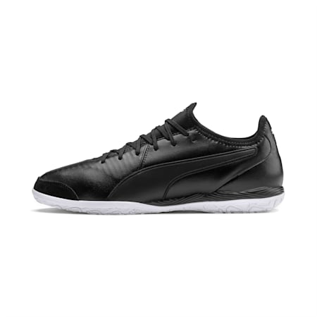 King Pro IT Soccer Shoes, Puma Black-Puma White, small