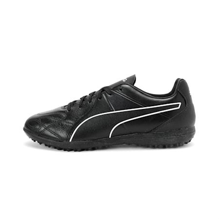 KING Hero TT Football Boots, Puma Black-Puma White, small-IND