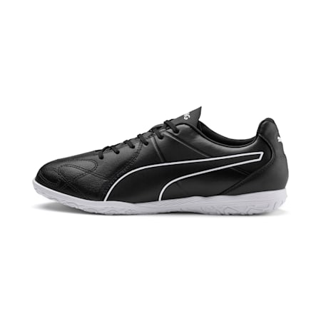 KING Hero IT Football Boots, Puma Black-Puma White, small-IND