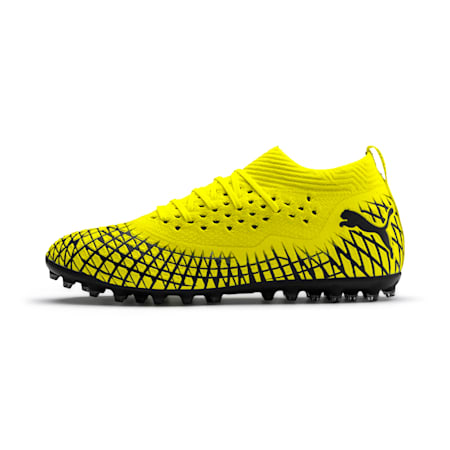 フューチャー 4.2 NETFIT MG サッカースパイク, Yellow Alert-Puma Black, small-JPN