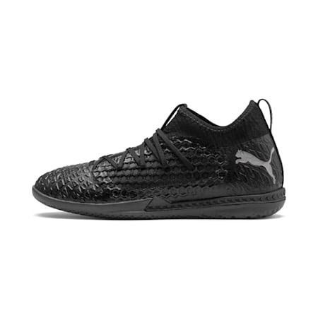 FUTURE 4.3 NETFIT IT Men's Soccer Shoes, Black-Black-Puma Aged Silver, small