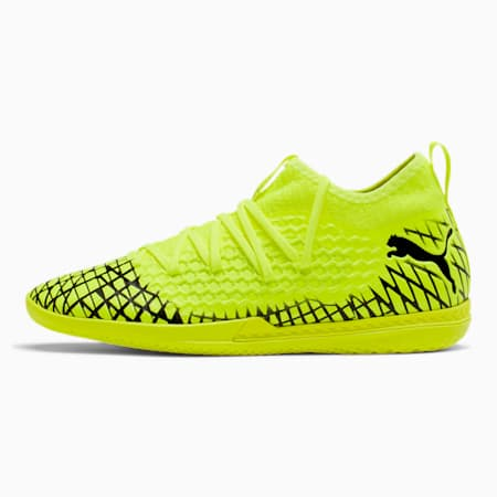 FUTURE 4.3 NETFIT IT Men's Soccer Shoes, Yellow Alert-Puma Black, small