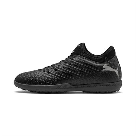 FUTURE 4.4 TT Men's Football Boots, Black-Black-Puma Aged Silver, small-IND