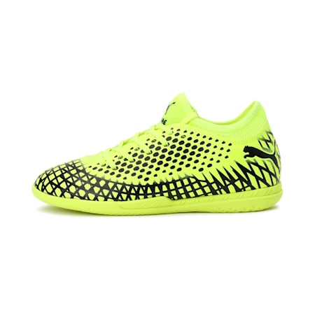 FUTURE 4.4 IT Youth Football Boots, Yellow Alert-Puma Black, small-IND