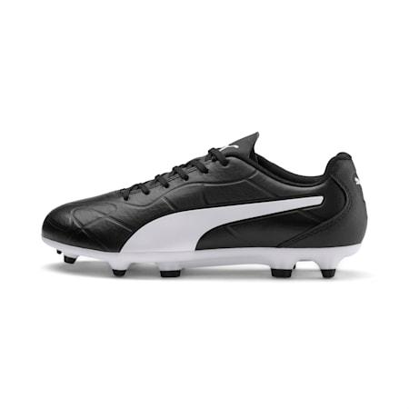 Monarch FG Kid's Football Boots, Puma Black-Puma White, small-IND