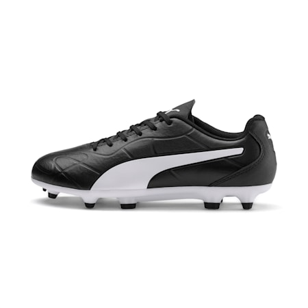 Monarch FG Youth Football Boots, Puma Black-Puma White, small-IND