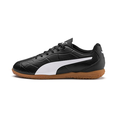 キッズ モナーク サッカー インドアトレーニング JR 18-24.5cm, Puma Black-Puma White, small-JPN