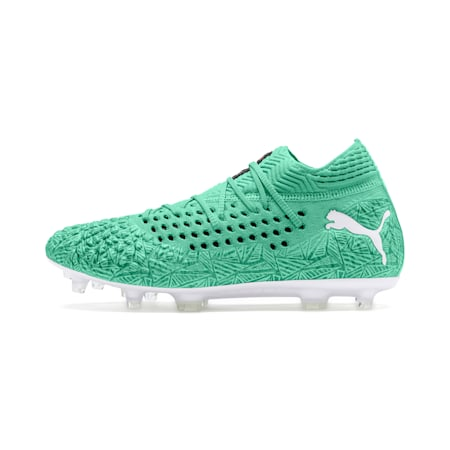 FUTURE 4.1 NETFIT Limited Edition FG/AG Men's Football Boots, Green Glimmer-White-Black, small