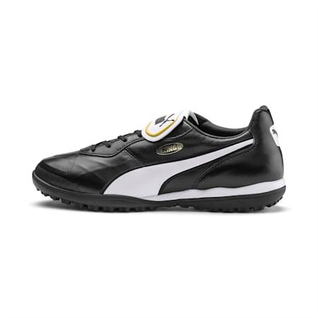 Zapatos de fútbol King Top TT, Puma Black-Puma White, pequeño