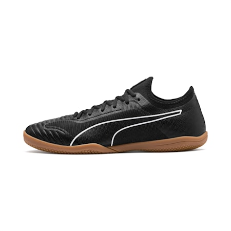 365 Sala 1 Men's Soccer Shoes, Puma Black-Puma White-Gum, small