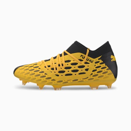 FUTURE 5.3 NETFIT FG/AG Men's Football Boots, ULTRA YELLOW-Puma Black, small-SEA