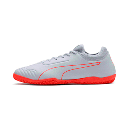 365 Sala 2 Men's Football Boots, Grey Dawn-Nrgy Red, small-IND