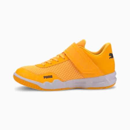 Rise XT EH 4 Youth Sneaker, Orange Alert-Puma Black-Wht, small