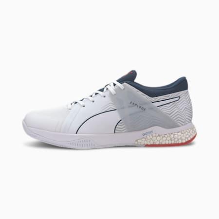 Explode EH 2 Handball Shoes, White-Denim-Risk Red-Gray, small