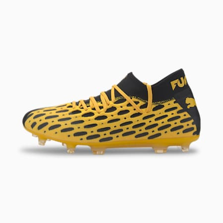 Scarpe da calcio per uomo FUTURE 5.2 NETFIT FG/AG, ULTRA YELLOW-Puma Black, small