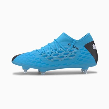 FUTURE 5.3 NETFIT SG Herren Fußballschuhe, Blue-Nrgy Blue-Black-Pink, small