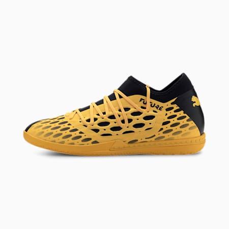 FUTURE 5.3 NETFIT IT Men's Soccer Shoes, ULTRA YELLOW-Puma Black, small