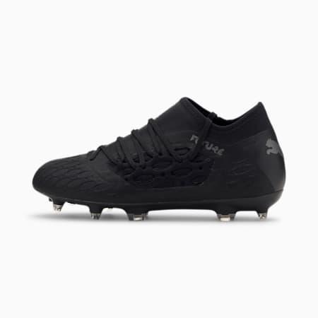 Botas de fútbol para jóvenes FUTURE 5.3 NETFIT FG/AG, Puma Black-Asphalt, small