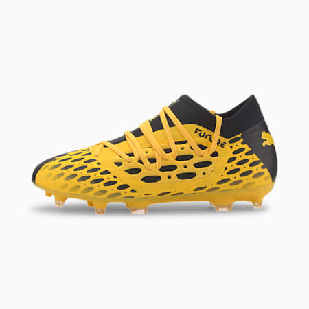 FUTURE 5.3 NETFIT FG/AG Youth Football Boots, ULTRA YELLOW-Puma Black, small-SEA