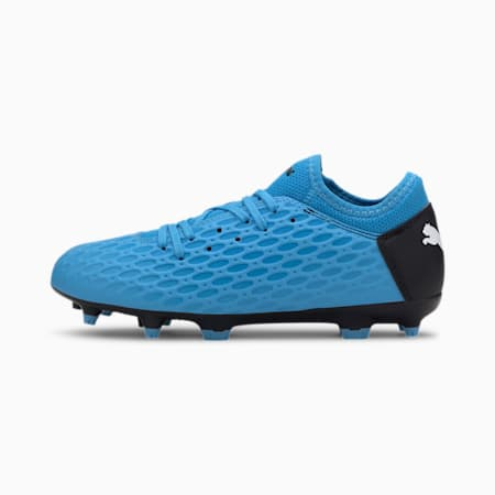 FUTURE 5.4 FG/AG voetbalschoenen voor jeugd, Blue-Nrgy Blue-Black-Pink, small