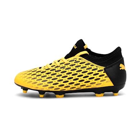 FUTURE 5.4 FG/AG Jr Football Boots, ULTRA YELLOW-Puma Black, small-IND