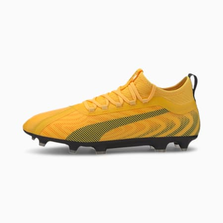 PUMA ONE 20.2 FG/AG Men's Football Boots, YELLOW-Puma Black-Orange, small