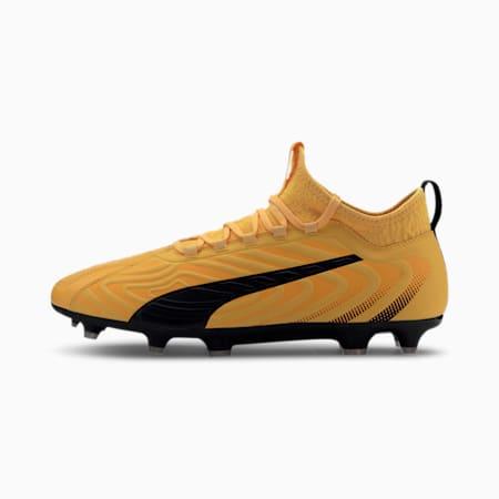 Męskie buty piłkarskie PUMA ONE 20.3 FG/AG, YELLOW-Puma Black-Orange, small