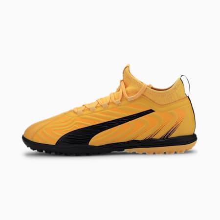 PUMA ONE 20.3 TT Men's Soccer Shoes, YELLOW-Puma Black-Orange, small