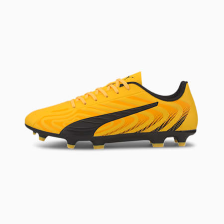 Chaussure de foot PUMA ONE 20.4 FG/AG pour homme, YELLOW-Black-Orange, small