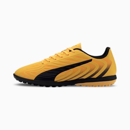 Chaussure de foot PUMA ONE 20.4 TT pour homme, YELLOW-Puma Black-Orange, small