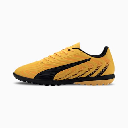 PUMA ONE 20.4 TT Herren Fußballschuhe, YELLOW-Puma Black-Orange, small
