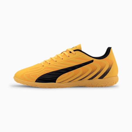 Męskie buty piłkarskie PUMA ONE 20.4 IT, YELLOW-Puma Black-Orange, small