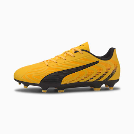 PUMA ONE 20.4 FG/AG Youth Football Boots, YELLOW-Puma Black-Orange, small