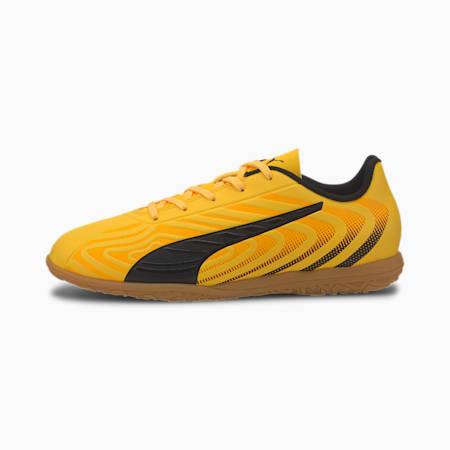 キッズ プーマ ワン 20.4 IT JR サッカー インドアトレーニング 17-24.5cm, YELLOW-Black-Orange -Gum, small-JPN