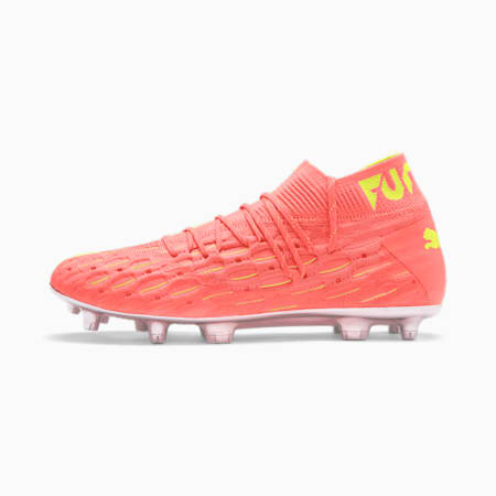 FUTURE 5.1 NETFIT FG/AG Men's Football Boots, Nrgy Peach-Fizzy Yellow, small