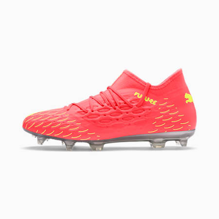 Botines de fútbol FUTURE 5.3 NETFIT FG/AG para hombre, Nrgy Peach-Fizzy Yellow, pequeño