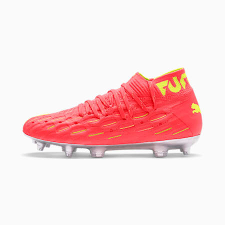Botas de fútbol FUTURE 5.1 FG/AG para jóvenes, Nrgy Peach-Fizzy Yellow, small