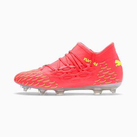 FUTURE 5.3 FG/AG Youth Football Boots, Nrgy Peach-Fizzy Yellow, small