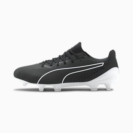 KING Platinum Lazertouch FG/AG Men's Football Boots, Puma Black-Puma White, small