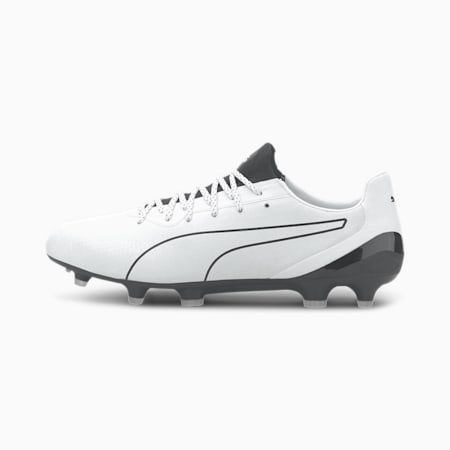 KING Platinum Lazertouch FG/AG Men's Football Boots, Puma White-Puma Black, small