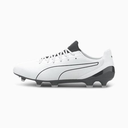 KING Platinum Lazertouch FG/AG Men's Football Boots, Puma White-Puma Black, small-SEA