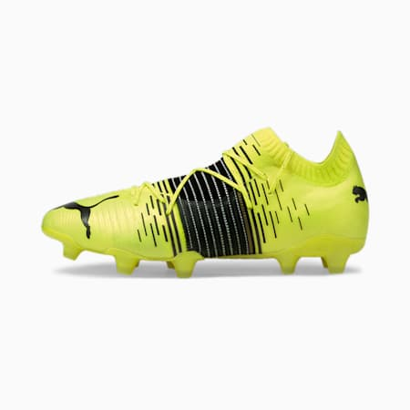 FUTURE Z 1.1 FG/AG Men's Football Boots, Yellow Alert-Black-White, small-IND