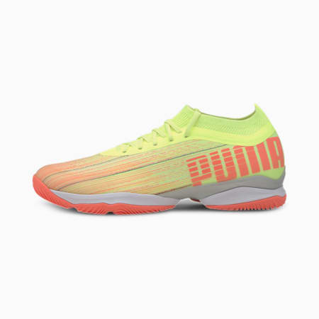 Adrenalite 1.1 Handball Shoes, Peach-Yellow-White-Silver, small