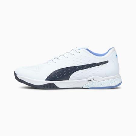 Explode 1 Handball Shoes, Puma White-Peacoat-Blue-Gray, small