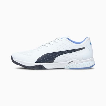 Explode 1 Handball Shoes, Puma White-Peacoat-Blue-Gray, small