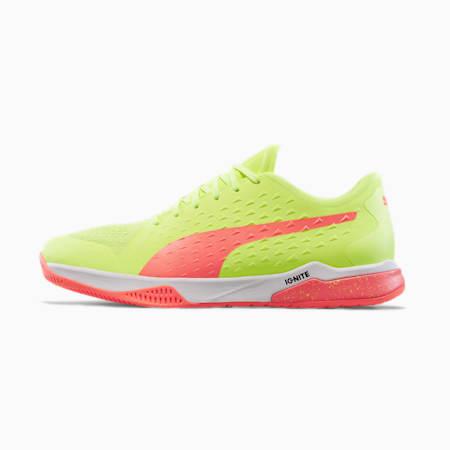 Explode 1 Handball Shoes, Yellow-Peach-White-Gray, small