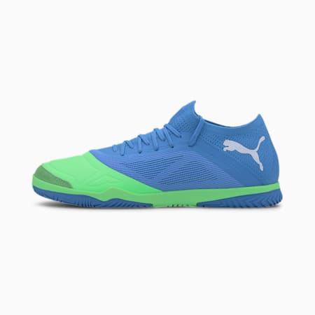 365 FUTSAL 1 Men's Soccer Shoes, Blue -Elektro Green-White, small