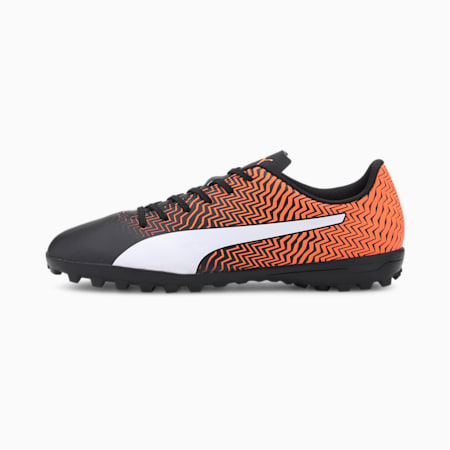 Rapido II TT Men's Football Boots, Shocking Orange-Black-White, small-IND